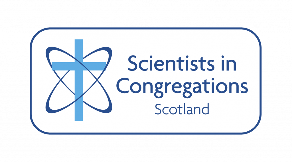 the logo of Scientists in Congregations Scotland